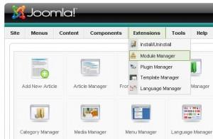 Modul Joomla 1.5 untuk Website Baru
